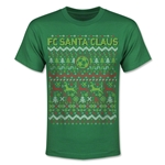 FC Santa Claus Christmas Sweater Youth T-Shirt (Green)