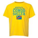 Congo DR Youth Soccer T-Shirt (Yellow)