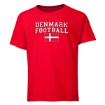 Denmark Youth Football T-Shirt (Red)