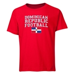 Dominican Republic Youth Football T-Shirt (Red)