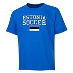 Estonia Youth Soccer T-Shirt (Royal)
