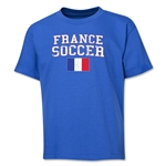 France Youth Soccer T-Shirt (Royal)