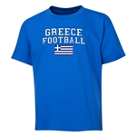 Greece Youth Football T-Shirt (Royal)