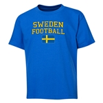 Sweden Youth Football T-Shirt (Royal)