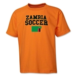 Zambia Youth Soccer T-Shirt (Orange)