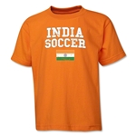 India Youth Soccer T-Shirt (Orange)