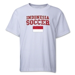 Indonesia Youth Soccer T-Shirt (White)