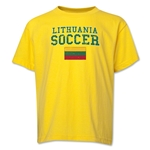 Lithuania Youth Soccer T-Shirt (Yellow)
