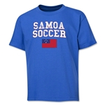 Samoa Youth Soccer T-Shirt (Royal)