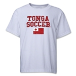 Tonga Youth Soccer T-Shirt (White)