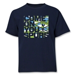 Tottenham Come On You Spurs Youth T-Shirt (Navy)