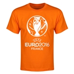 Euro 2016 Core Emblem Youth T-Shirt (Red)