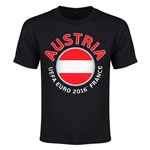Austria Euro 2016 Flag Youth T-Shirt (Black)