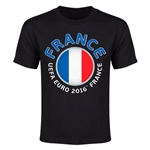 France Euro 2016 Flag Youth T-Shirt (Black)