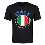 Italy Euro 2016 Flag Youth T-Shirt (Black)