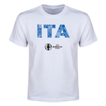 Italy Euro 2016 Elements Youth T-Shirt (White)