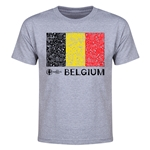 Belgium Euro 2016 Elemental Flag Youth T-Shirt (Grey)