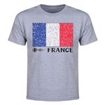 France Euro 2016 Elemental Flag Youth T-Shirt (Grey)