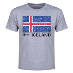 Iceland Euro 2016 Elemental Flag Youth T-Shirt (Grey)
