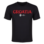 Croatia Euro 2016 Youth T-Shirt (Black)