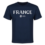 France Euro 2016 Youth T-Shirt (Navy)