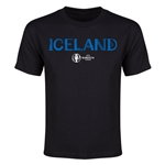 Iceland Euro 2016 Youth T-Shirt (Black)