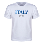 Italy Euro 2016 Youth T-Shirt (White)