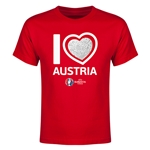 Austria Euro 2016 Heart Youth T-Shirt (Red)