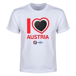 Austria Euro 2016 Heart Youth T-Shirt (White)