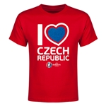 Czech Republic Euro 2016 Heart Youth T-Shirt (Red)