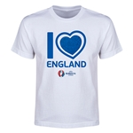 England Euro 2016 Heart Youth T-Shirt (White)