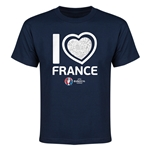 France Euro 2016 Heart Youth T-Shirt (Navy)