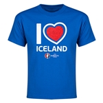 Iceland Euro 2016 Heart Youth T-Shirt (Royal)