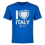 Italy Euro 2016 Heart Youth T-Shirt (Royal)