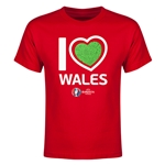 Wales Euro 2016 Heart Youth T-Shirt (Redl)