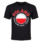 Poland Euro 2016 Heart Youth T-Shirt (Black)