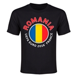 Romania Euro 2016 Heart Youth T-Shirt (Black)