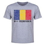 Romania Euro 2016 Heart Youth T-Shirt (Grey)