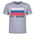 Russia Euro 2016 Heart Youth T-Shirt (Grey)