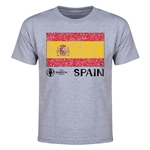 Spain Euro 2016 Heart Youth T-Shirt (Grey)