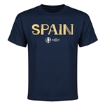 Spain Euro 2016 Youth T-Shirt (Navy)