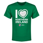 Northern Ireland Euro 2016 Heart Youth T-Shirt (Green)