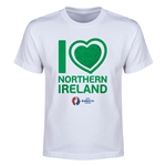 Northern Ireland Euro 2016 Heart Youth T-Shirt (White)