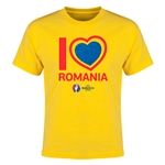 Romania Euro 2016 Heart Youth T-Shirt (Yellow)