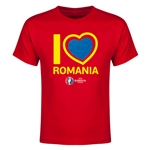 Romania Euro 2016 Heart Youth T-Shirt (Red)