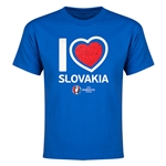 Slovakia Euro 2016 Heart Youth T-Shirt (Royal)