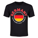 Germany Euro 2016 Heart Youth T-Shirt (Black)