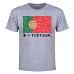 Portugal Euro 2016 Heart Youth T-Shirt (Grey)