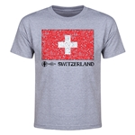 Switzerland Euro 2016 Heart Youth T-Shirt (Grey)