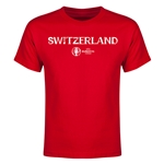 Switzerland Euro 2016 Youth T-Shirt (Red)